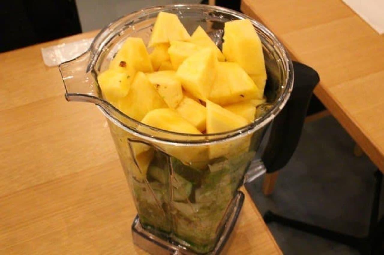 野菜やフルーツは季節に応じてチェンジ