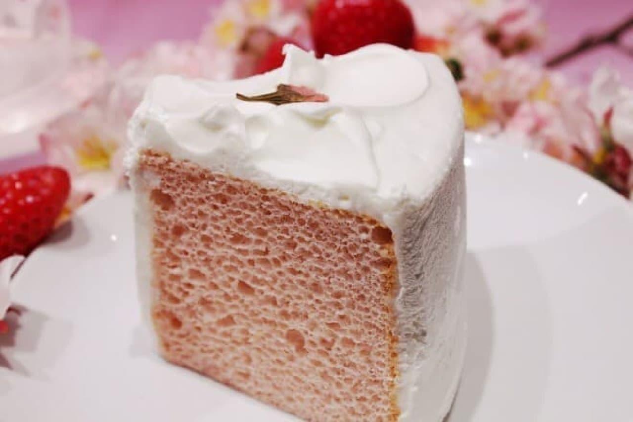 「さくらシフォンケーキ」