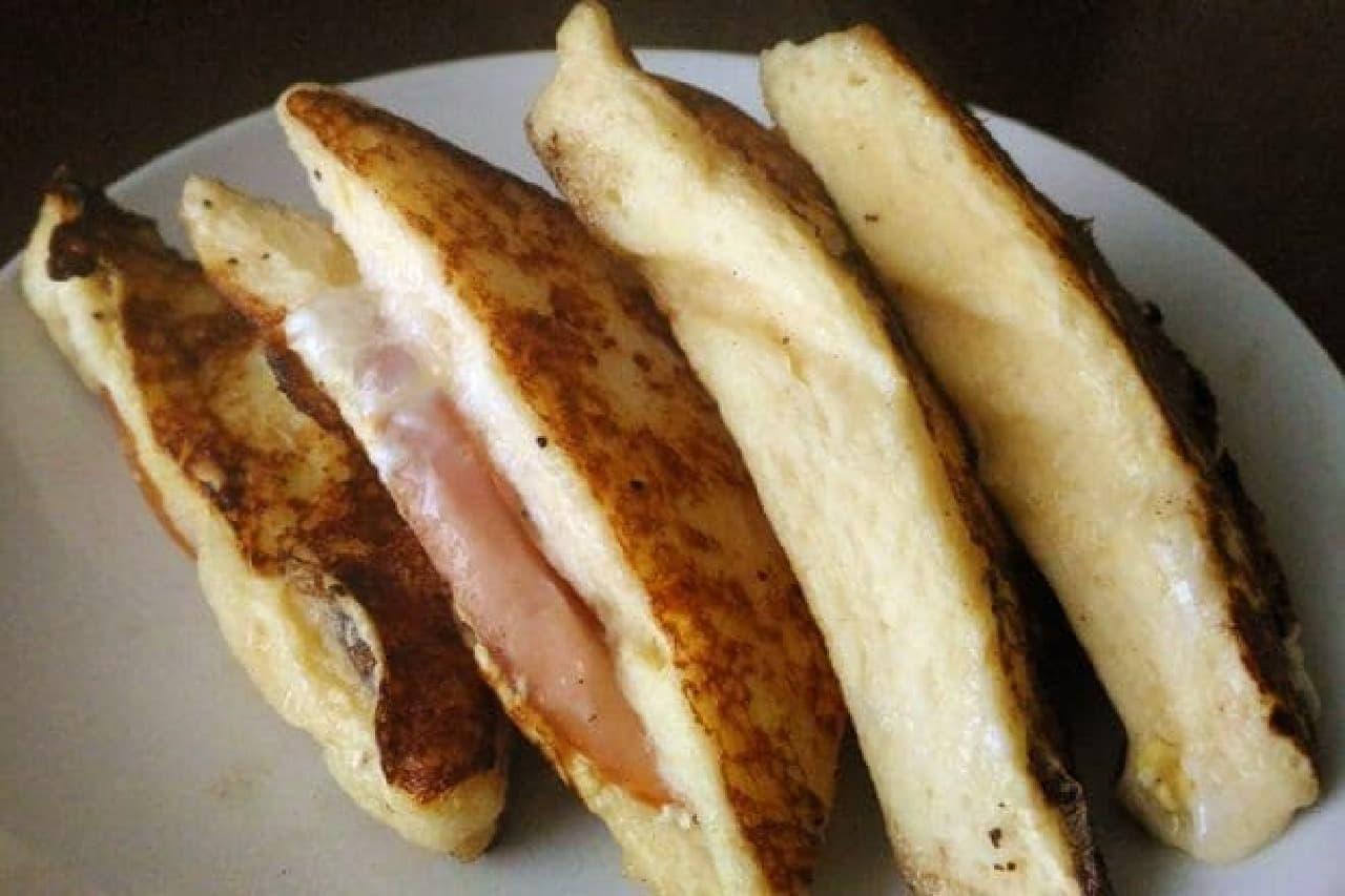 余ったサンドイッチをお食事系フレンチトーストに