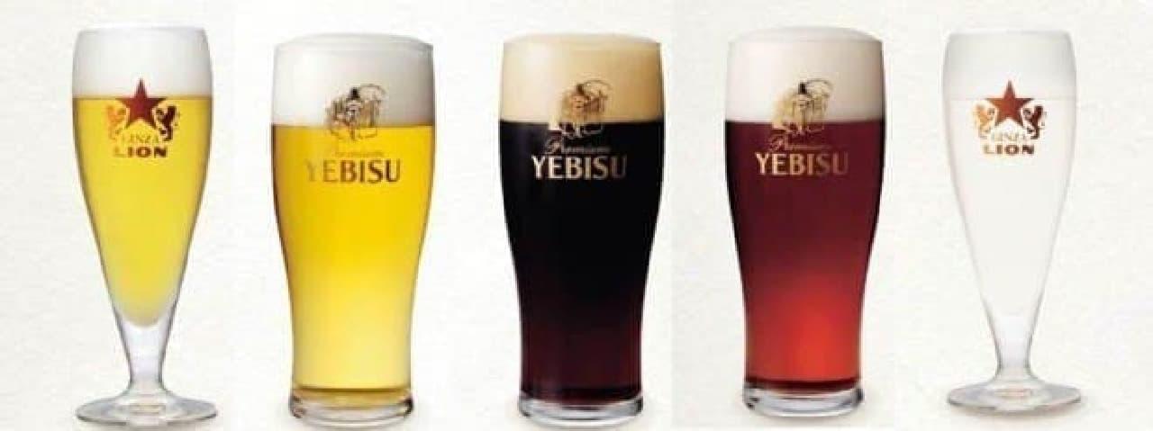 生ビールは常時5種がラインナップ