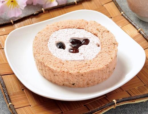 「プレミアム桜と大納言のロールケーキ」