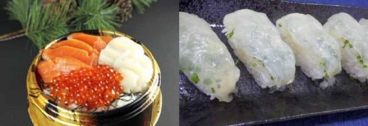 海鮮丼や握り寿司(写真はイメージ)