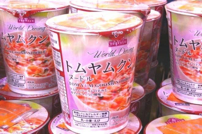 カップ麺の「トムヤムクンヌードル」など