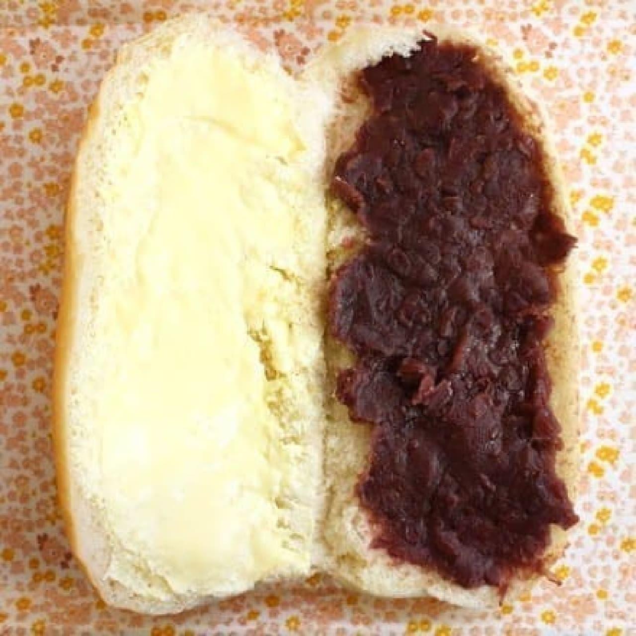パンとバターとあんこが、絶妙にマッチ
