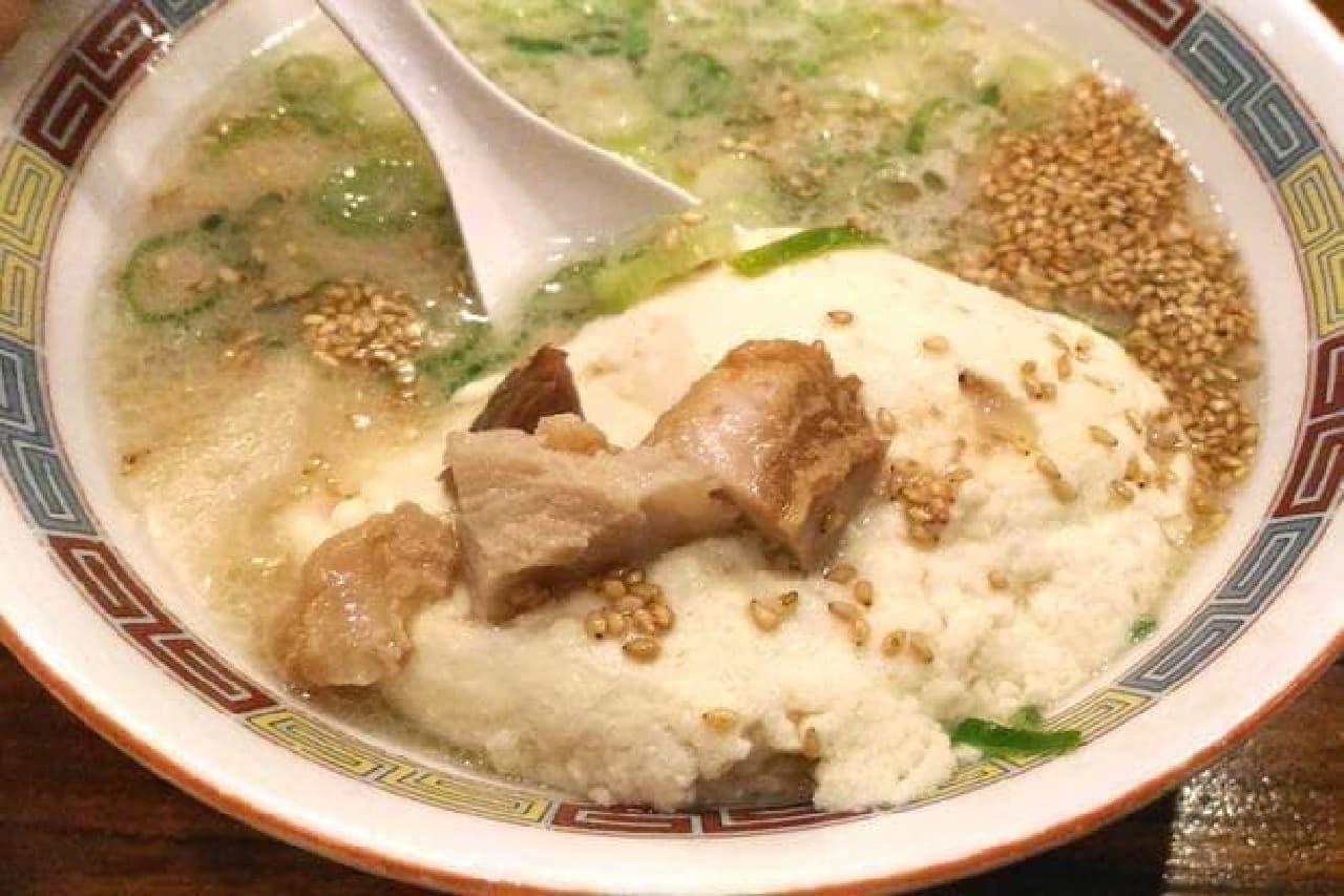 一風堂の「白丸とんこつ百年豆腐」