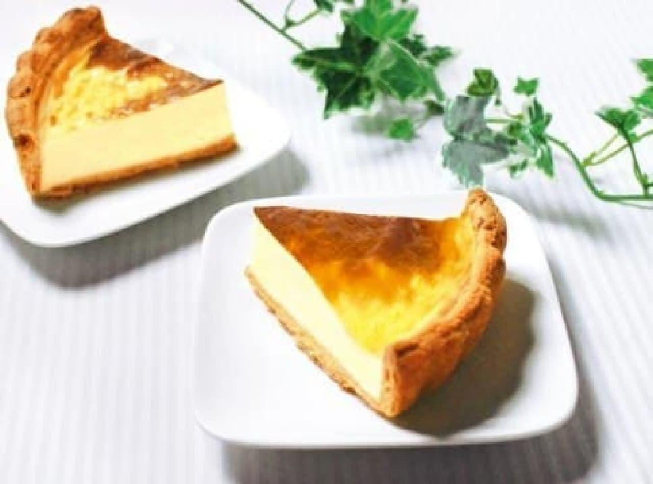 新作チーズケーキ続々登場!  (画像は「北海道なめらか3種のチーズパイ」)