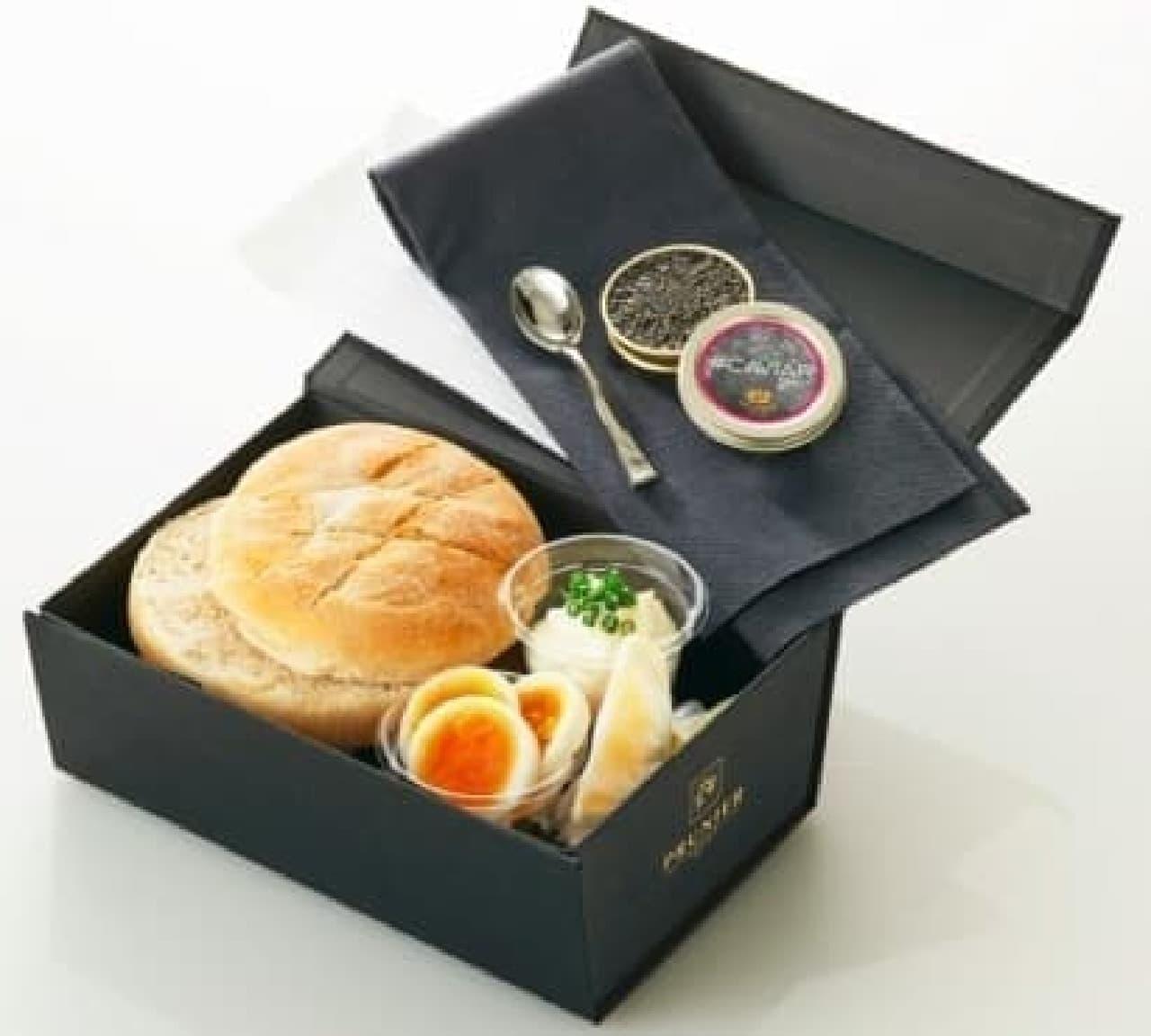一度は食べたい高級サンドイッチ  画像は「キャビアサンドイッチボックス」