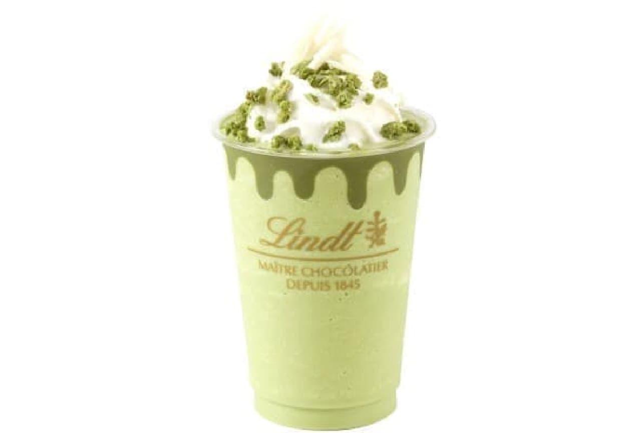 「リンツ ホワイトチョコレート抹茶アイスドリンク」