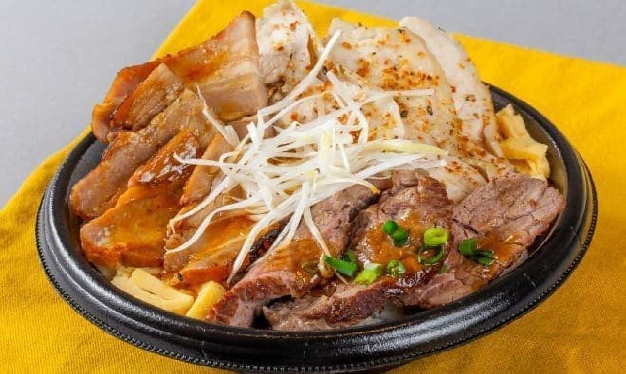 「どんぶり祭り in エキュート」開催  (画像はエキュート立川限定「お肉屋さんの三色丼」