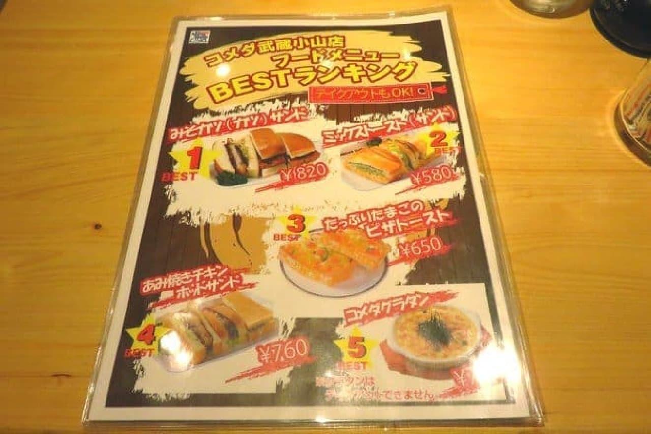 今回出向いた武蔵小山店ではフードメニューで人気No.1