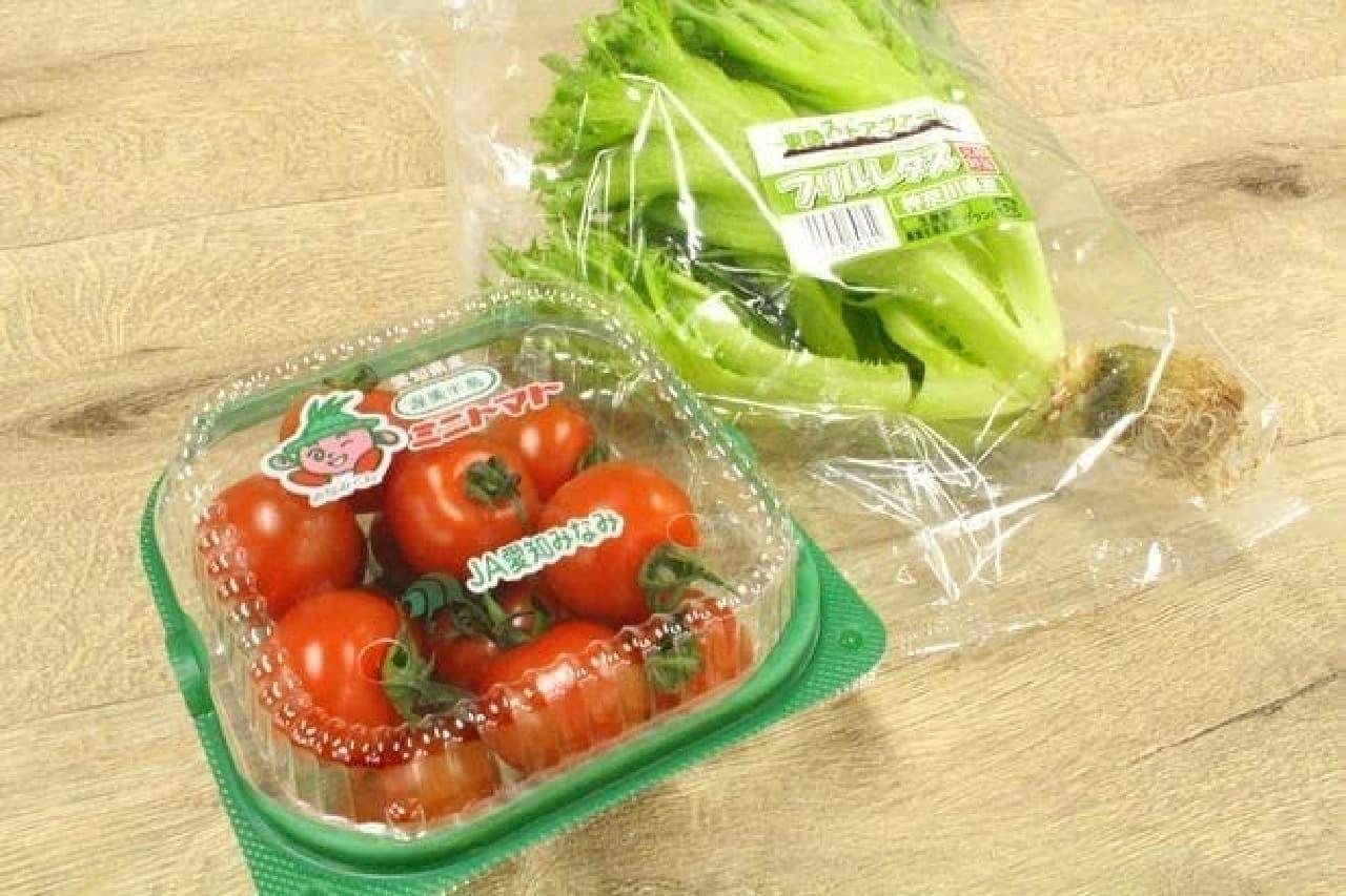 包丁いらずのプチトマトやレタスが便利