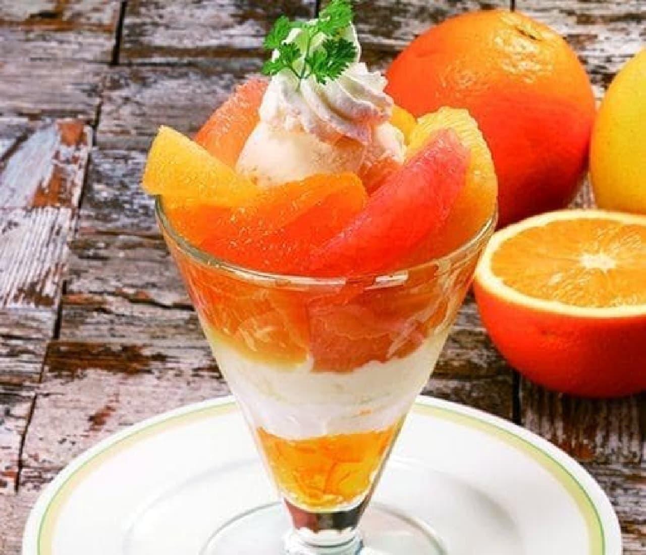 3種のシトラスフルーツ使用の贅沢なパフェ