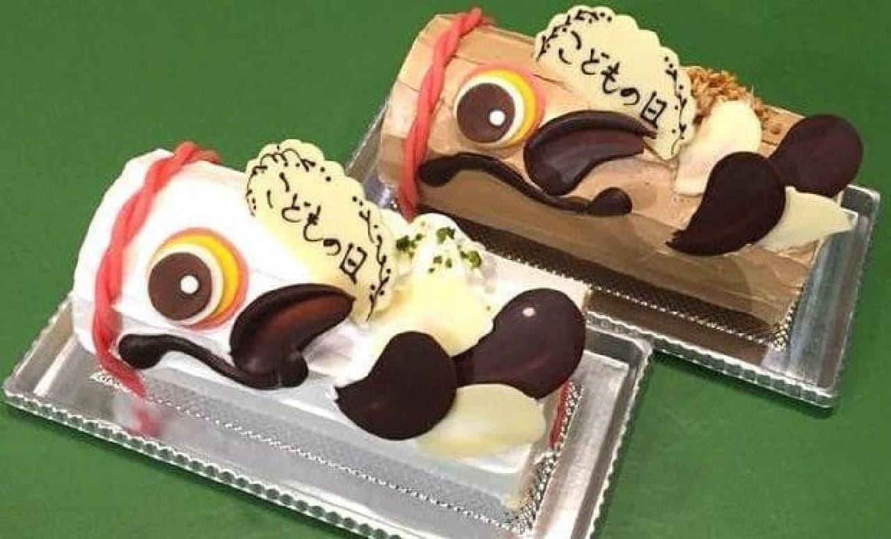 躍動感ある「こいのぼりケーキ」発売