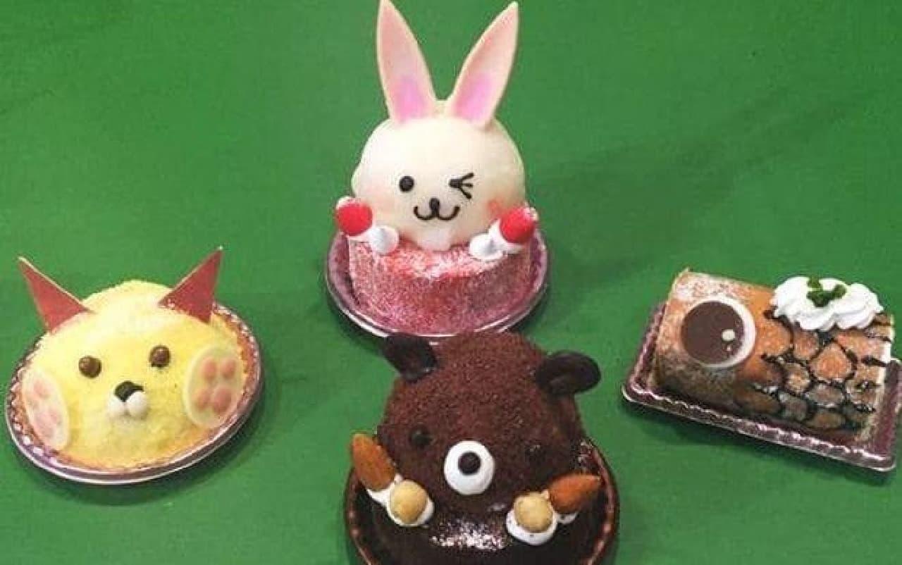 可愛らしい「アニマルケーキ」と「こいのぼりロール(ミニ)」