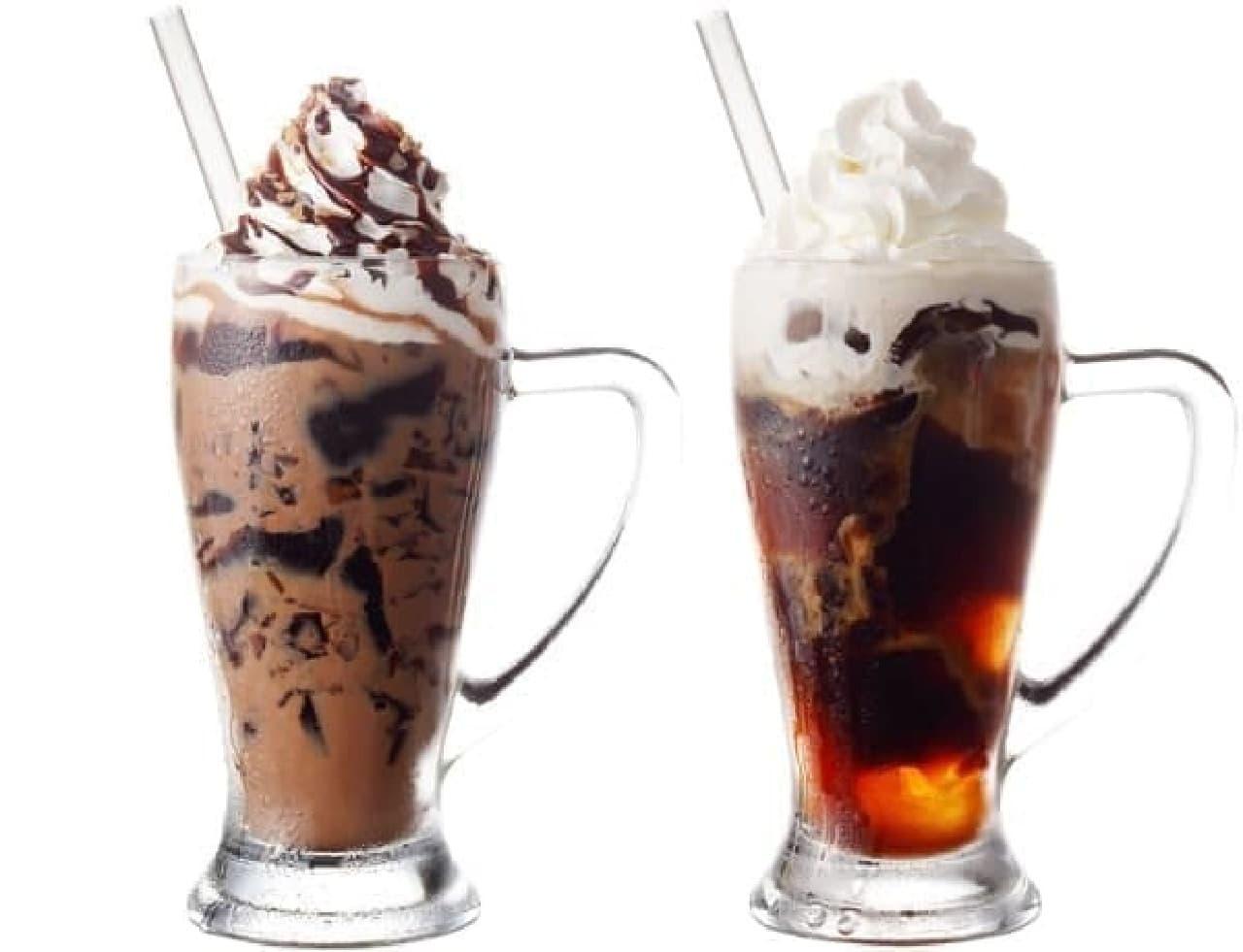 今年の新作はカフェモカジェリコ(左)