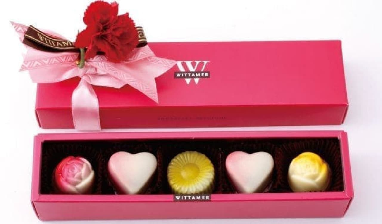 お花モチーフが可愛い「フルーレット ショコラセレクション」