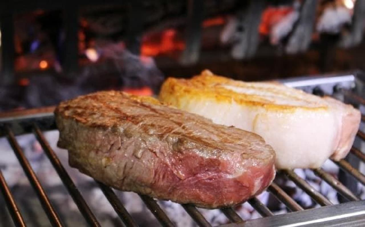 薪窯でステーキを焼くって珍しい!