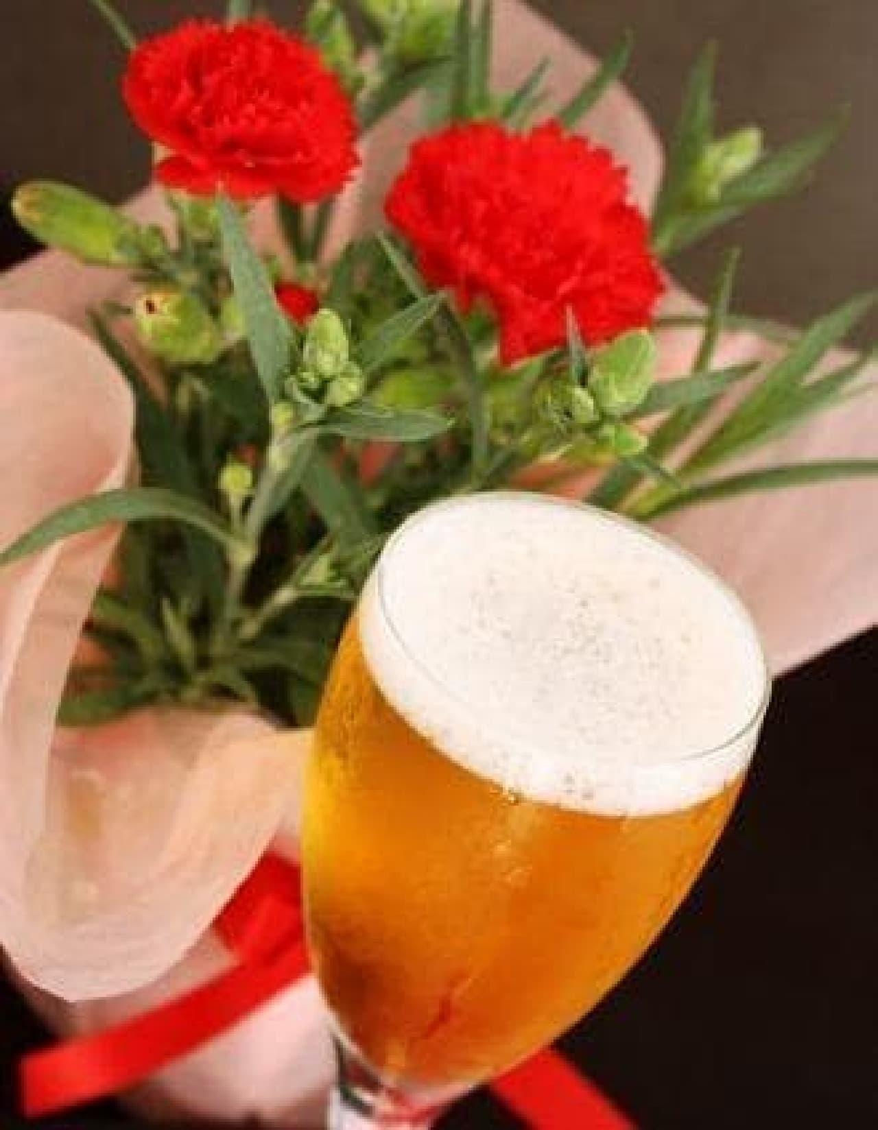 母の日はビールで乾杯