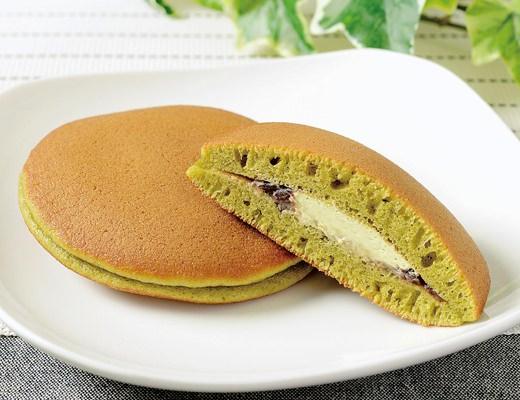 「宇治抹茶のパンケーキ(つぶあん&抹茶ホイップ)」