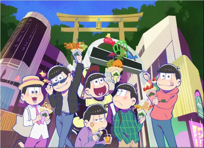 6つ子in原宿!