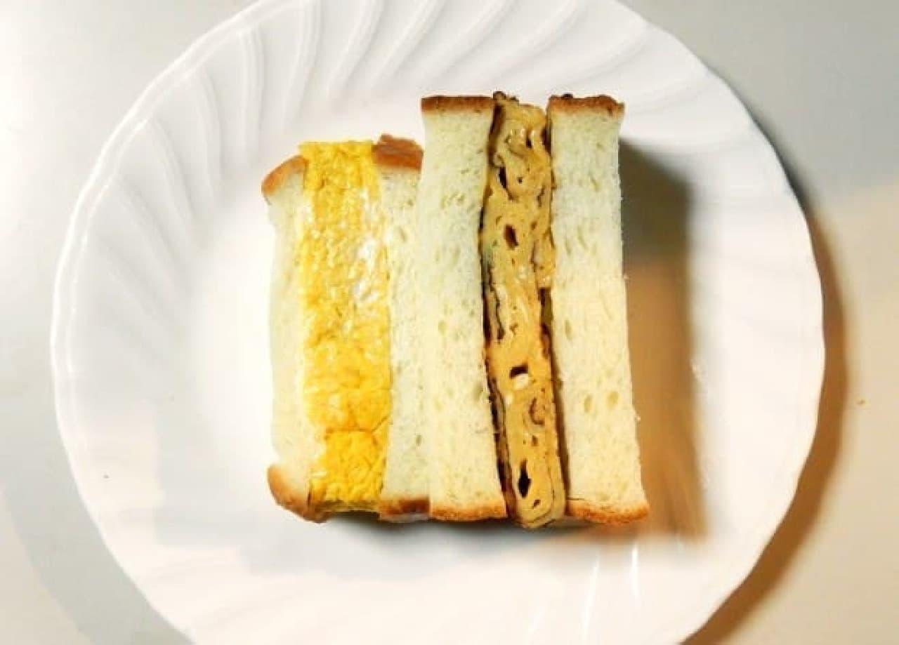 本物(左)は断面が見えない向きになっているのがお分かりいただけますでしょうか  ちなみにサイズ感が違うのはパンを切る方向も間違えたからです