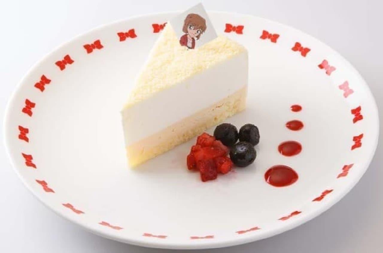 濃厚なベイクドチーズケーキにレアーチーズを重ねた「灰原のお手製チーズケーキ」