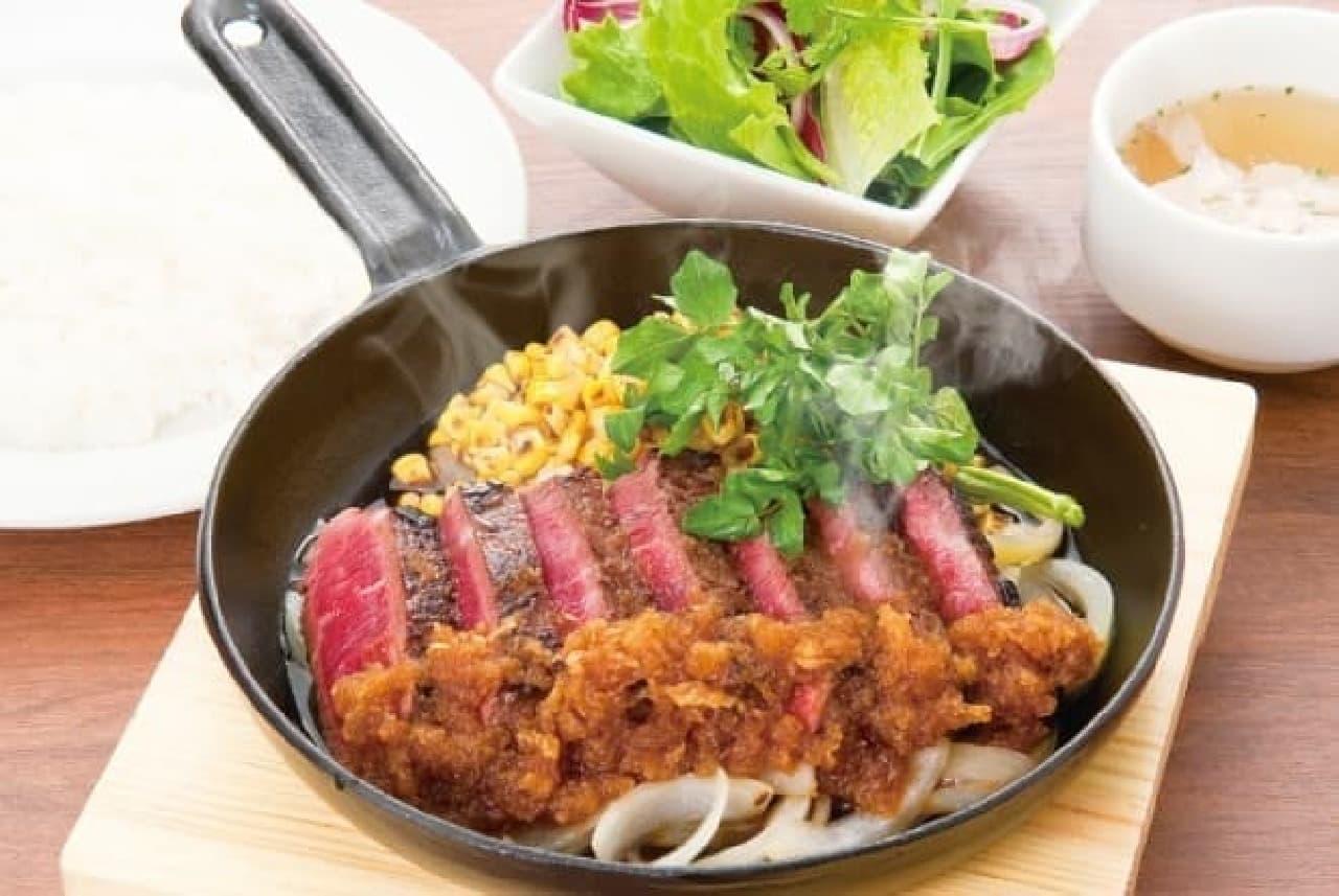 肉屋のサーロインステーキは税込1,200円→同500円に