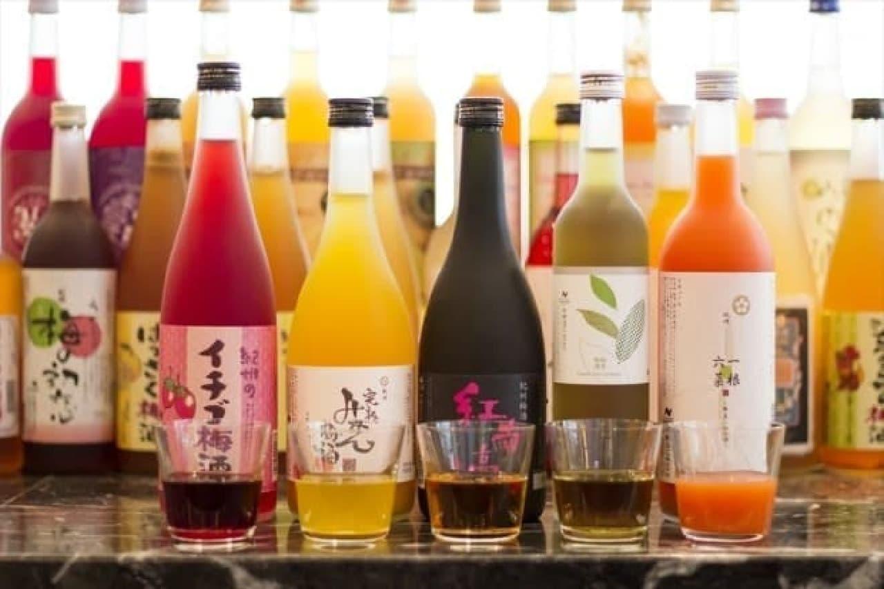 29種の梅酒と梅味のビールが飲み放題!