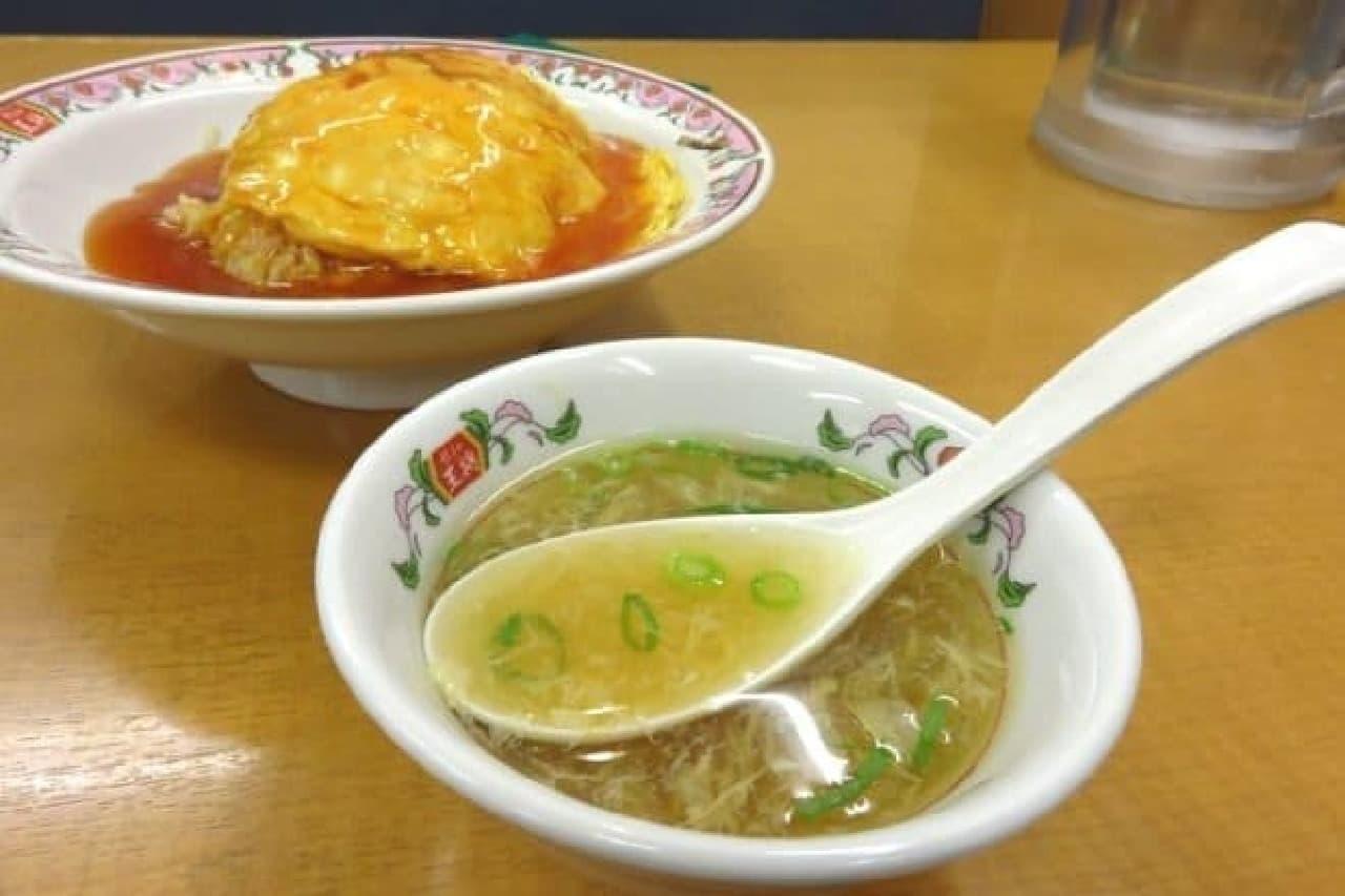 たまごスープ付きだった