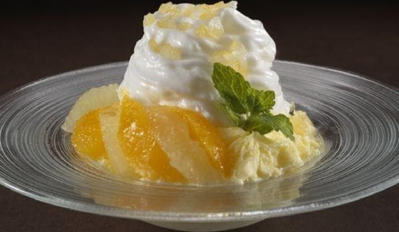 「レモンとヨーグルトエスプーマのかき氷」