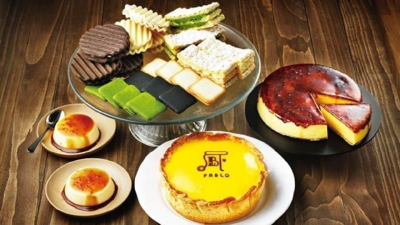 PABLOのチーズタルトと焼き菓子とプリン