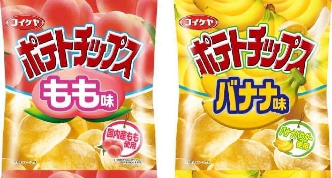 2015年5月に発売された「もも味」と「バナナ味」