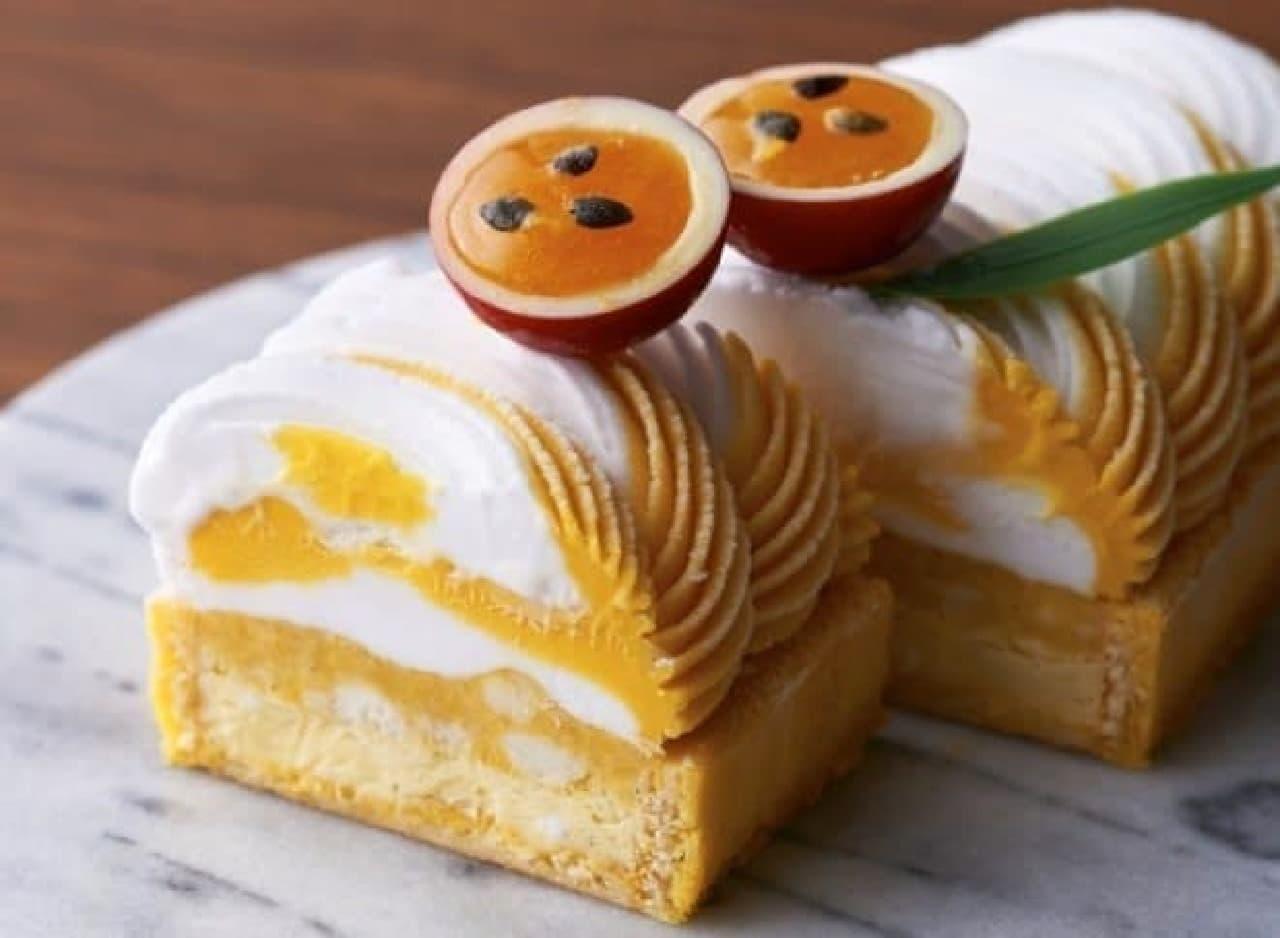 夏の新作アイスケーキ「オーバル グラッセマンゴーココ」