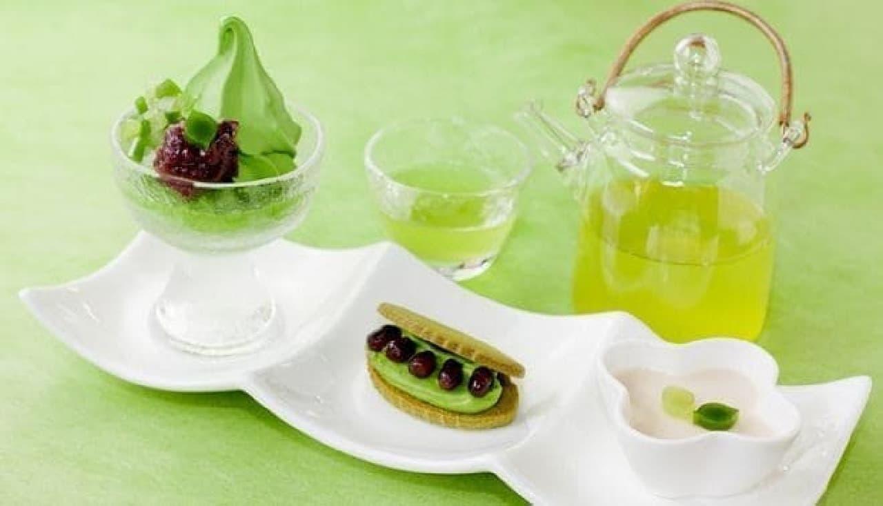 新緑メニュー「茶摘み」登場