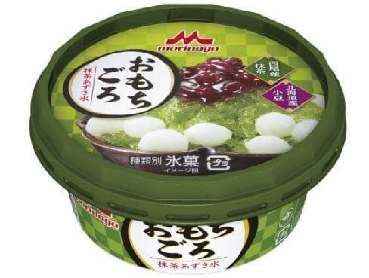 森永乳業「おもちごろ 抹茶あずき氷」