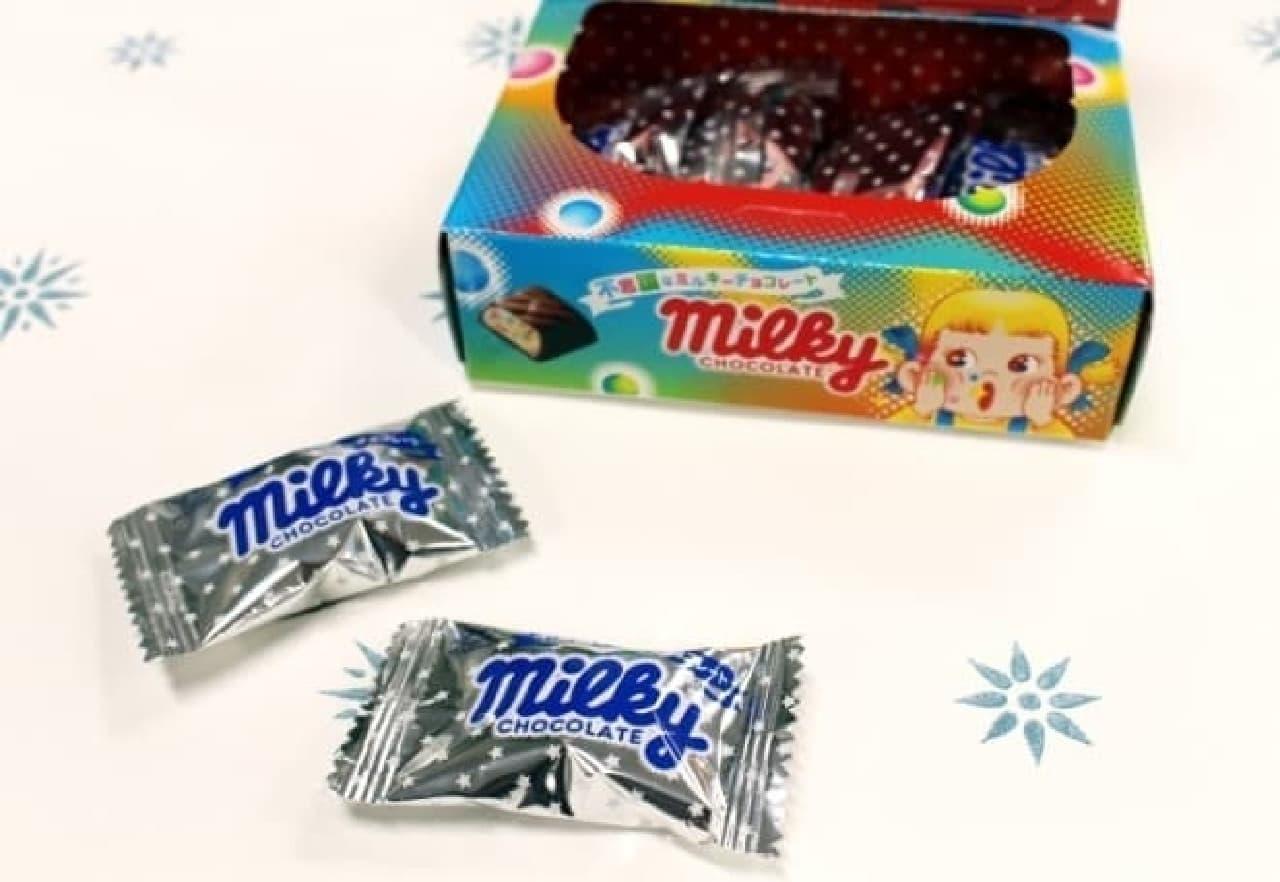 不思議なミルキーチョコレートの個包装
