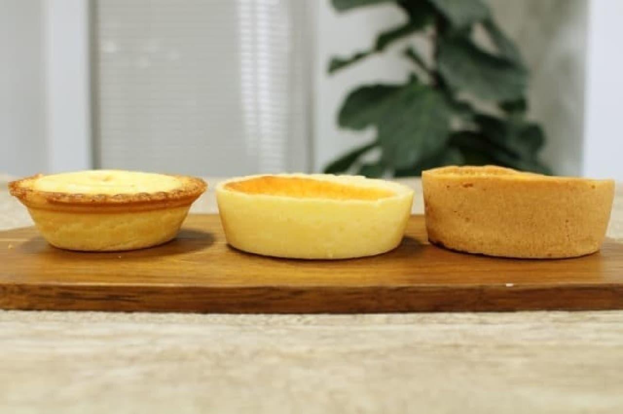 サークルKサンクス、ローソン、ファミマのチーズタルトの側面