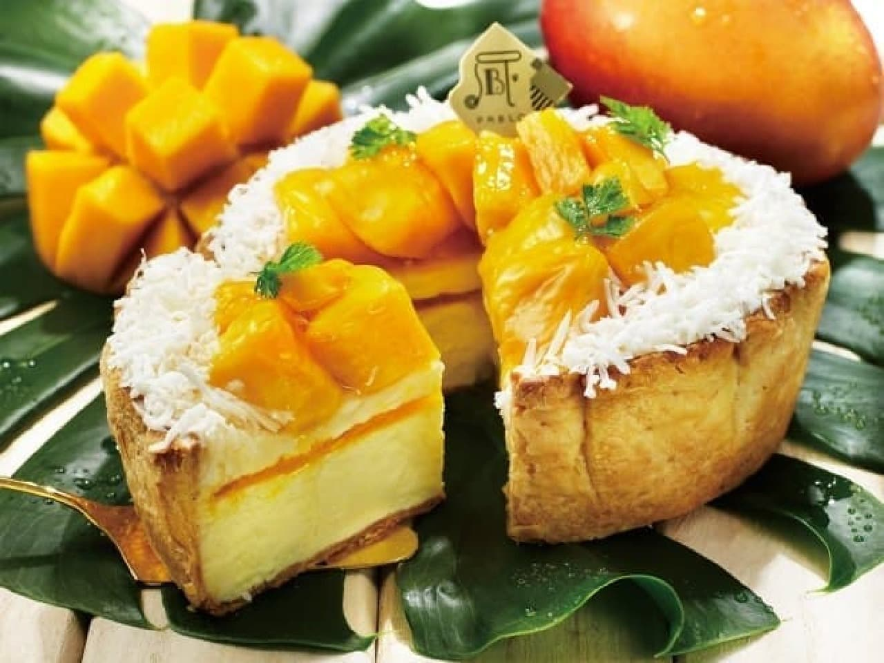 パブロ7月限定「ごろごろマンゴーとココナッツのチーズタルト」