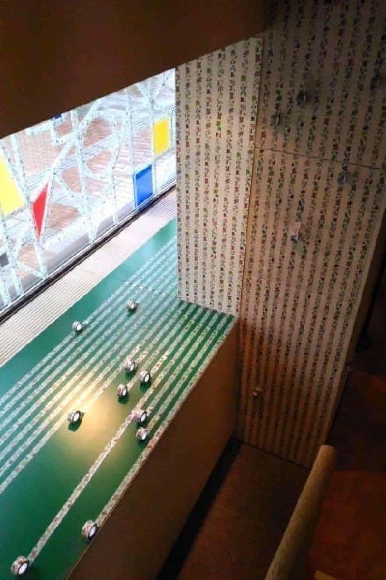 六花亭帯広本店、店内のマステによる装飾