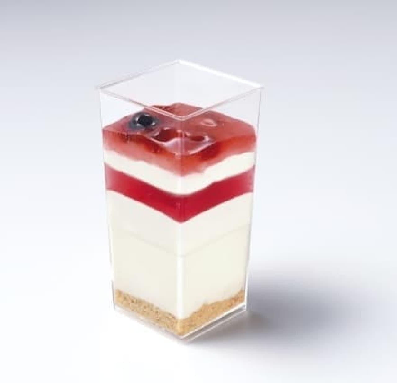 サークルKサンクス、山田優さん監修「豆乳が入ったレアチーズ」