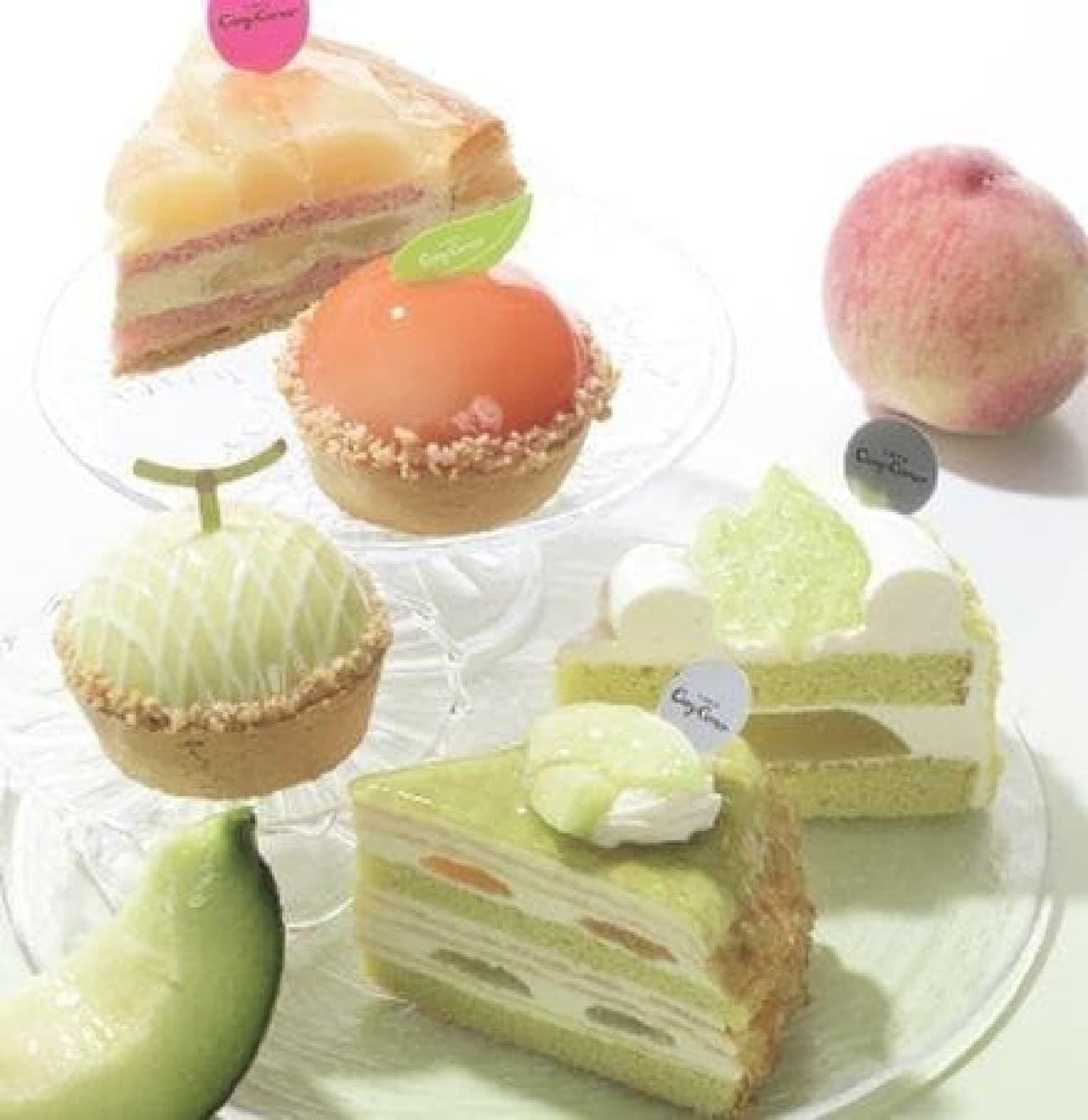 銀座コージーコーナーのメロンと白桃の新作ケーキ5種