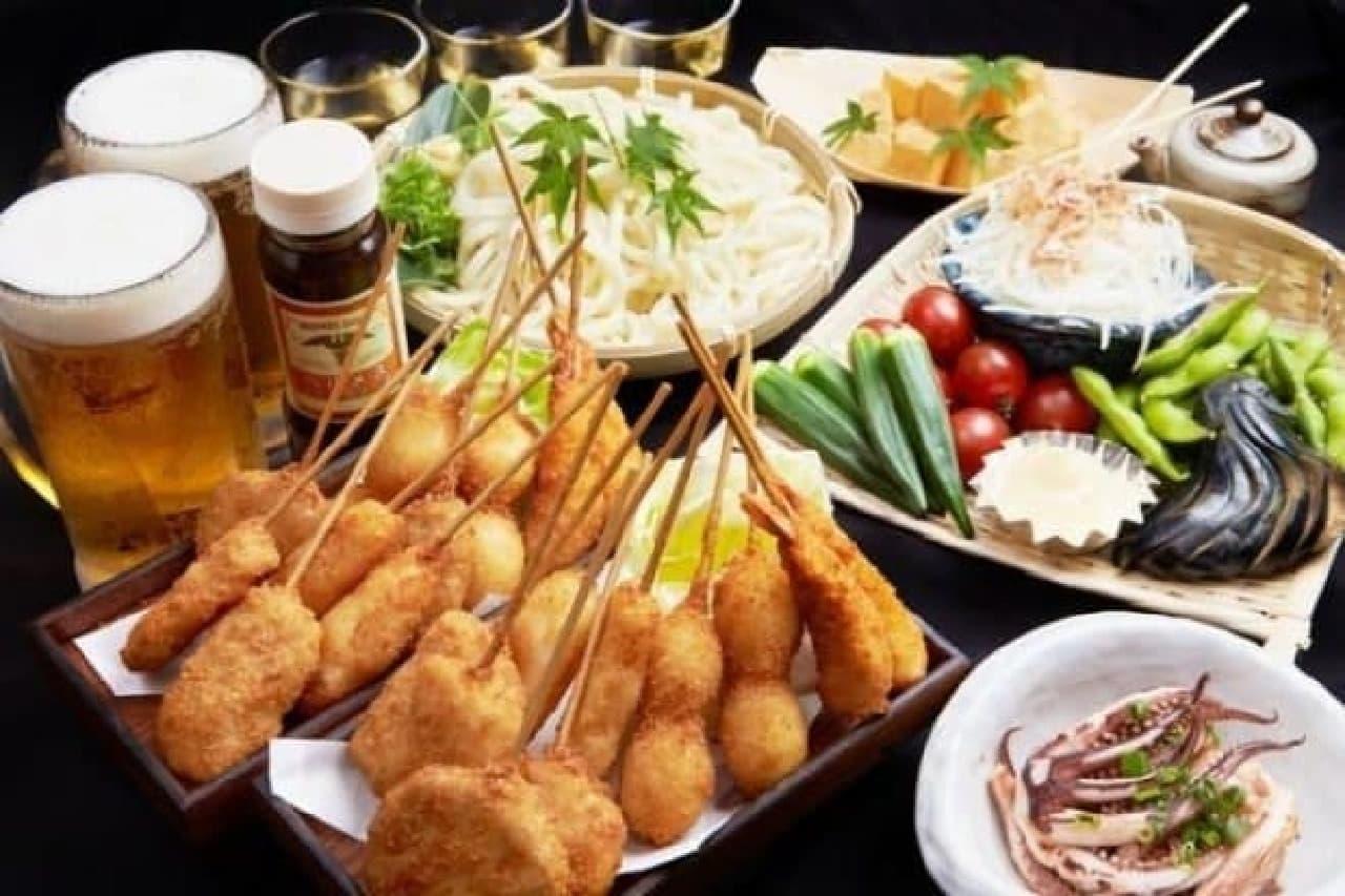 あべのハルカス「ハルカス300クールビアガーデン」予約限定コース料理イメージ