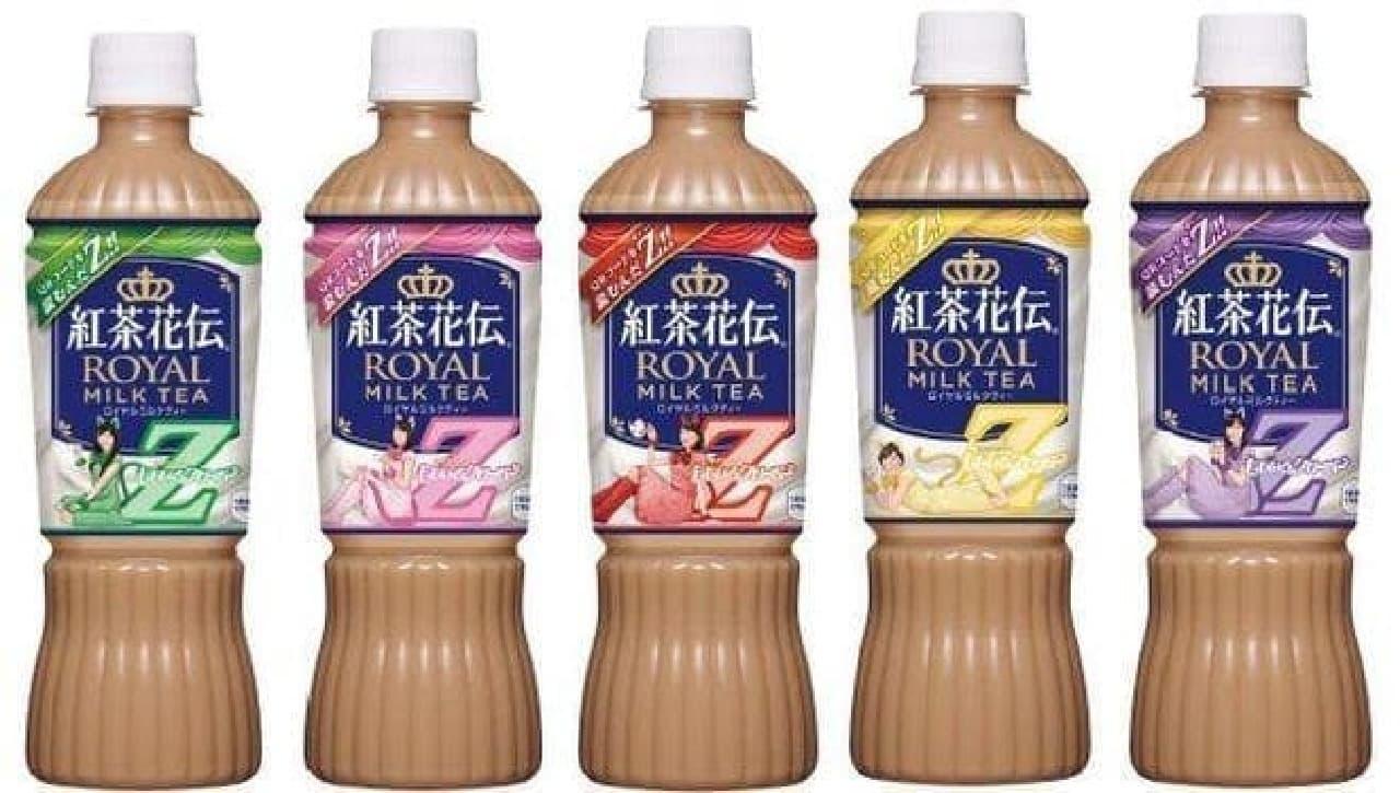 ももいろクローバーZデザインボトルの「紅茶花伝 ロイヤルミルクティー」