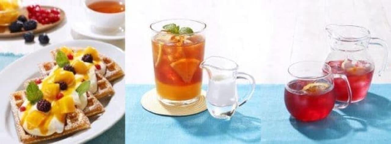 マザーリーフ夏のワッフルと紅茶