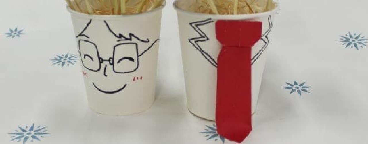 ケーキポップ用紙コップのデコレーション
