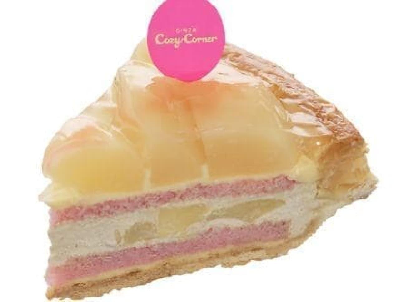 銀座コージーコーナー「白桃と紅茶のパイ」