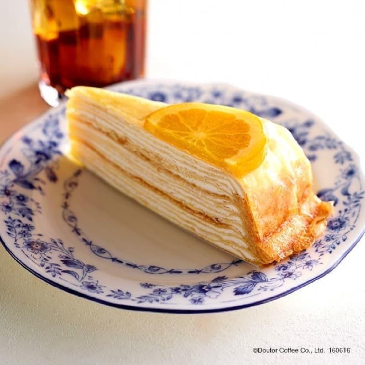 ドトールコーヒー キャラメルオレンジミルクレープ