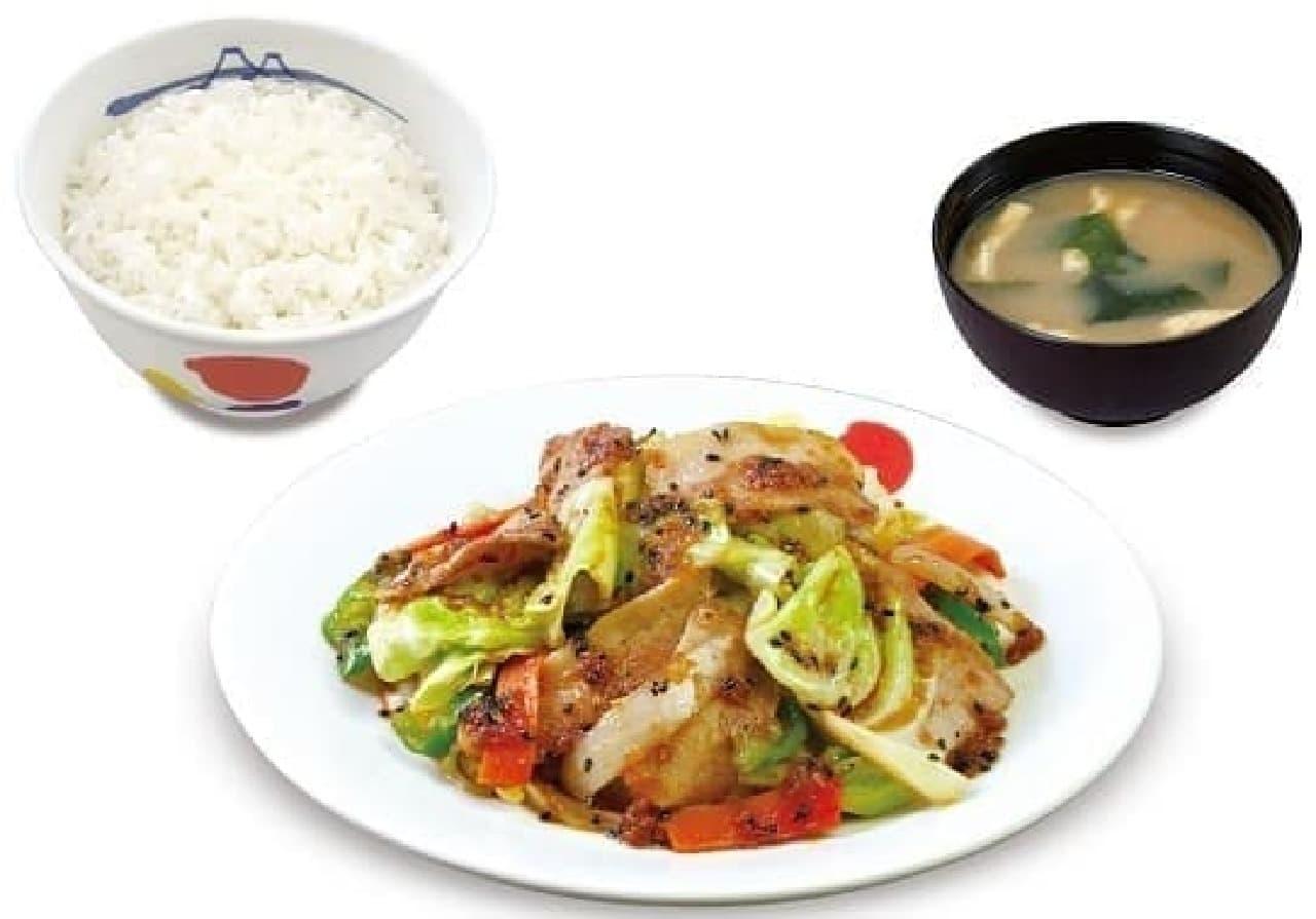 松屋「スタミナ肉野菜炒め」