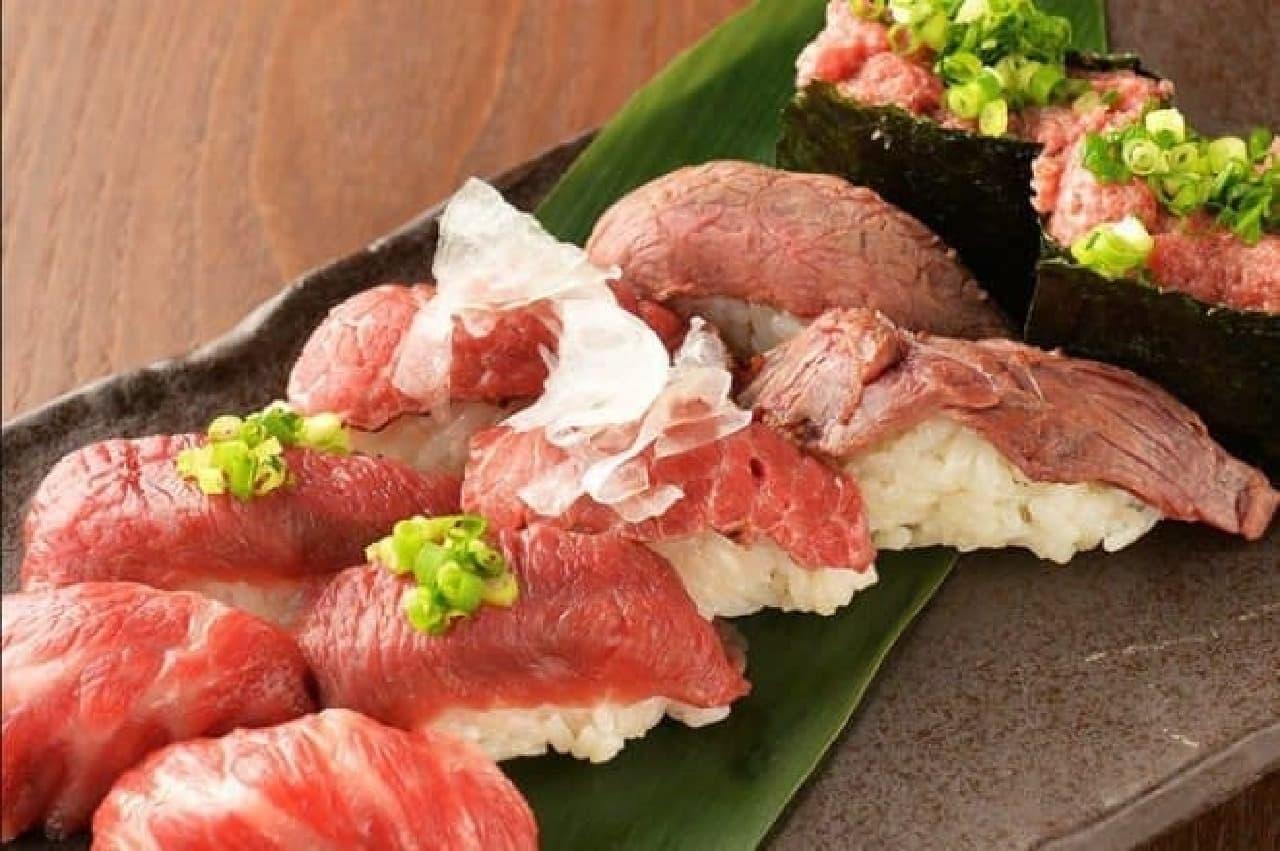 横浜 肉寿司のメニュー