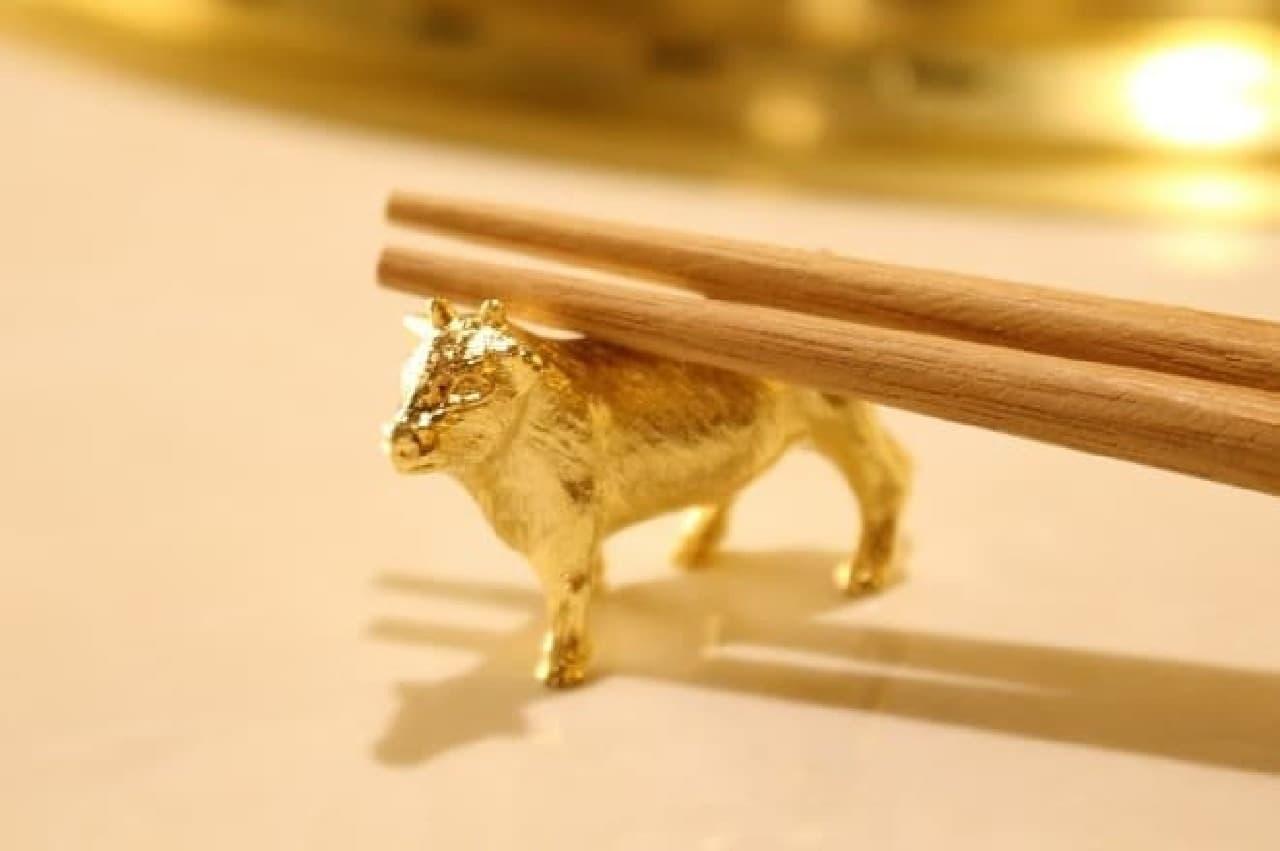 GEMS神田「肉の匠 将泰庵」の箸置き